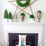 Hello Spring Mantel. Spring mantel decor for Hello spring is so welcoming and fresh