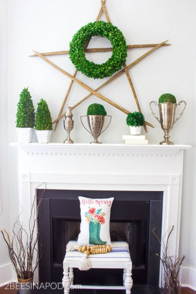 Hello Spring Mantel – Decorate Your Mantel Series