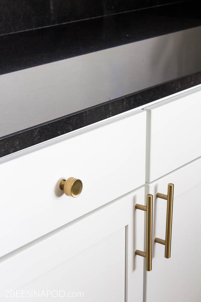Champagne Bronze Kitchen Cabinet Hardware - Kitchen Makeover ...