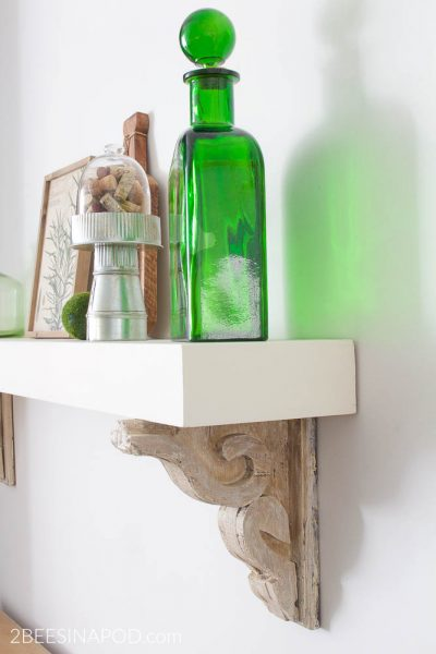 Kitchen Shelf From a Fireplace Mantel – Kitchen Makeover Week 3