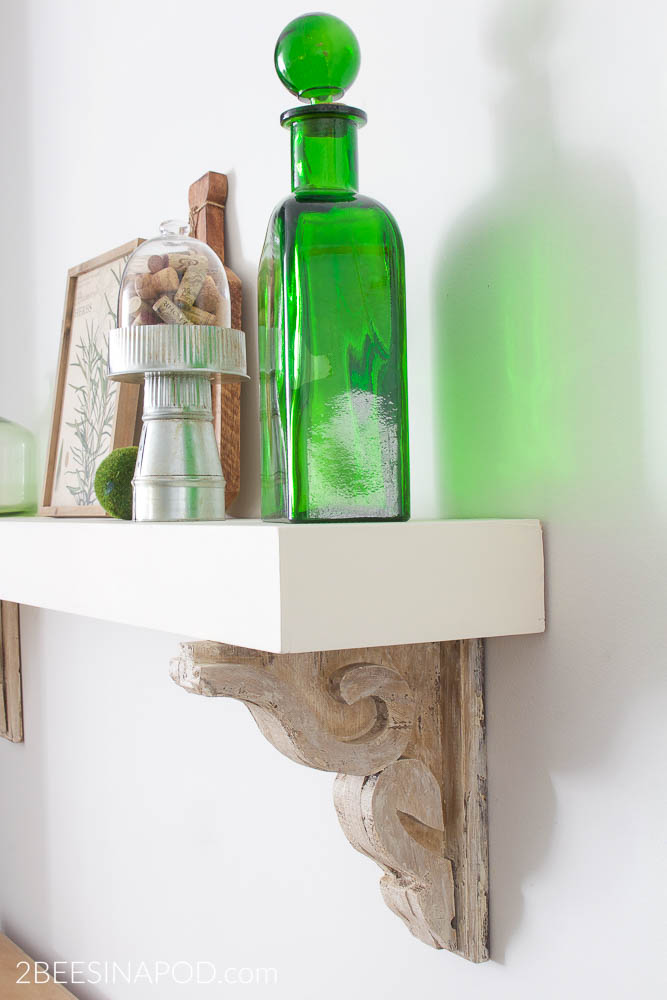 Kitchen Shelf From a Fireplace Mantel