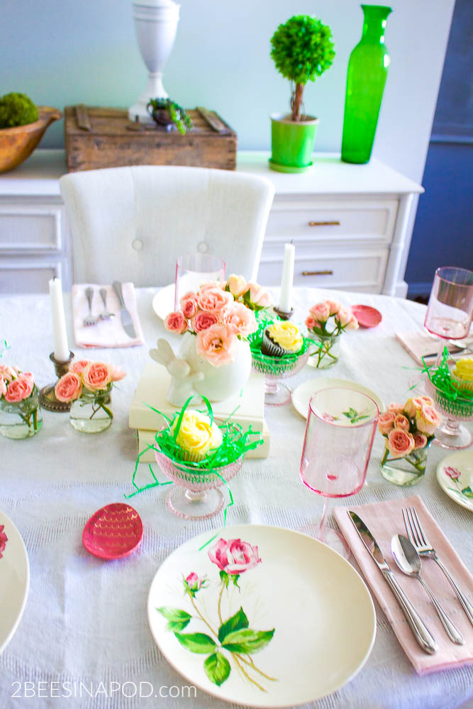 Pretty In Pink Spring Tablescape 2 Bees In A Pod
