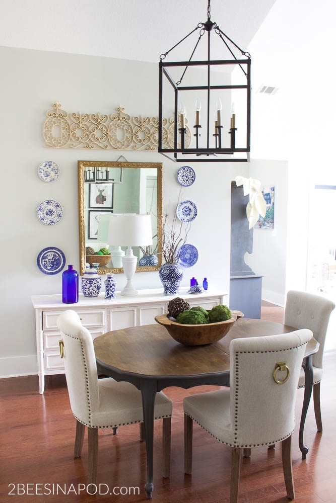 Budget Friendly Dining Room Makeover.. New Cayden Light Fixture