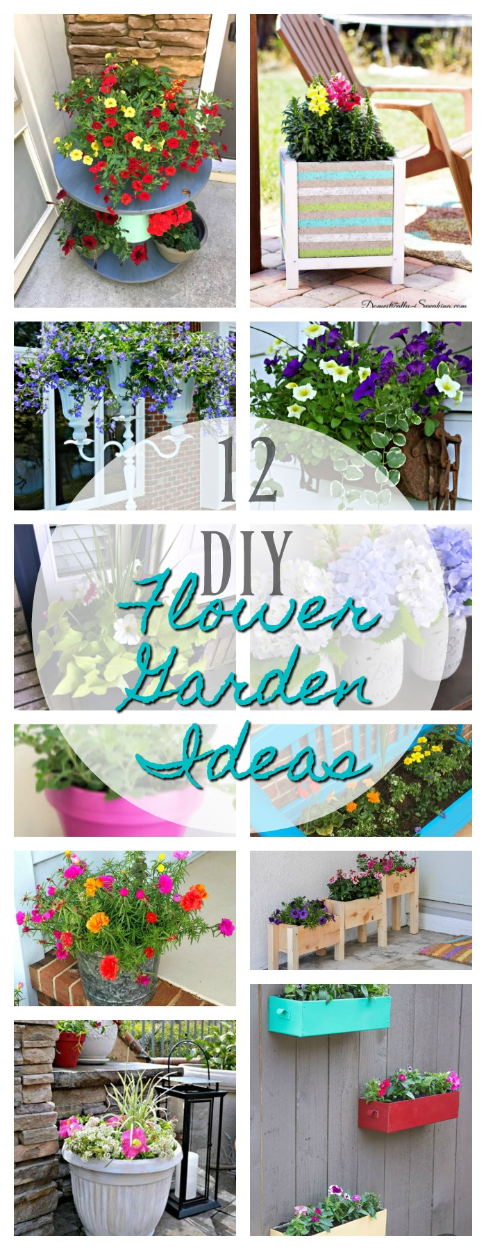 12 DIY Flower Garden Ideas - DIY Housewives Series - 2 ...