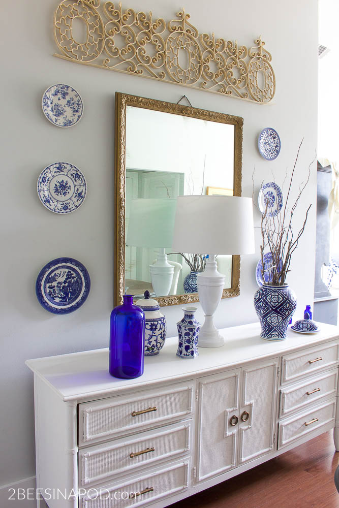 Decorating With Blue And White And Brass How To Get The Look Now