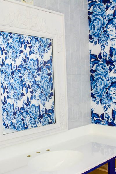 Blue and White Bathroom Makeover – One Room Challenge Week
