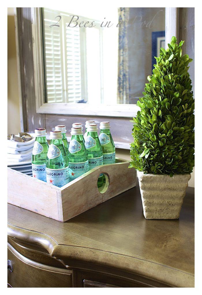 green water glass bottles