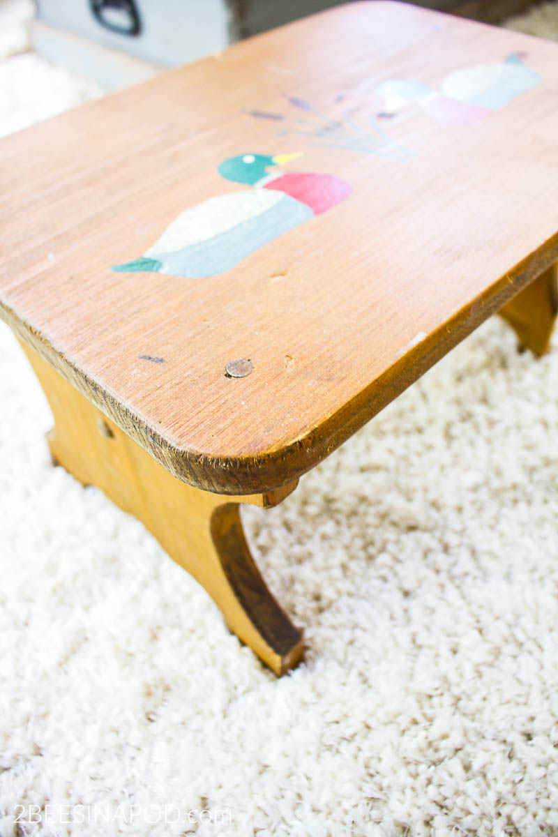 Fantastic Painted Step Stool Makeover 2 Bees In A Pod Gmtry Best Dining Table And Chair Ideas Images Gmtryco