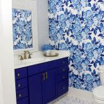 Blue and White Bathroom Makeover Reveal - One Room Challenge Week 6.