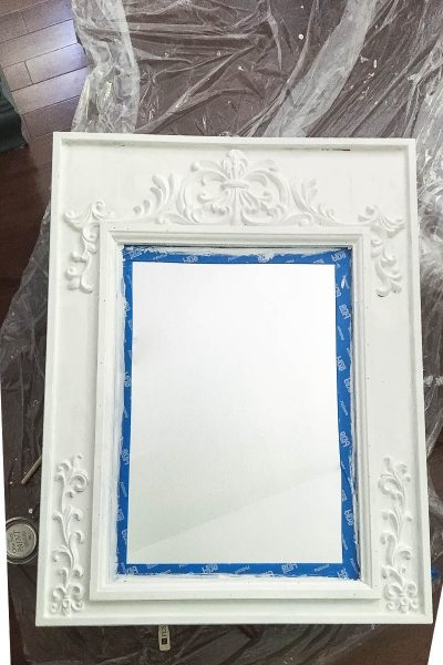 Repurposed Mirror for Bathroom Makeover – Thrifty Style Team