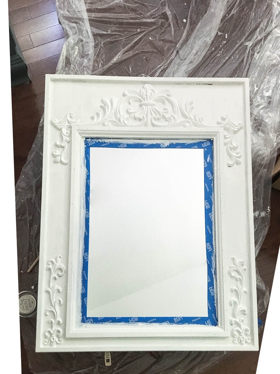 Repurposed Mirror for Bathroom Makeover