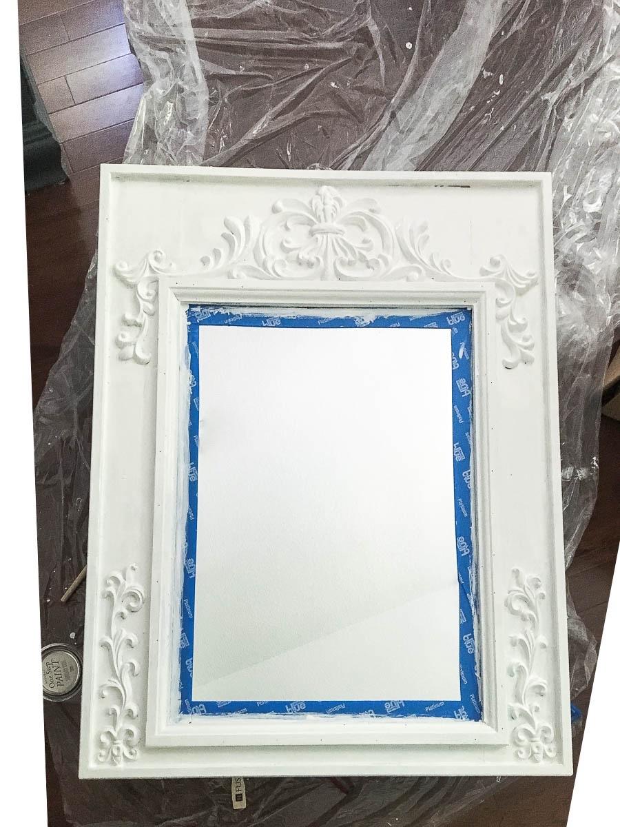 Repurposed Mirror for Bathroom Makeover