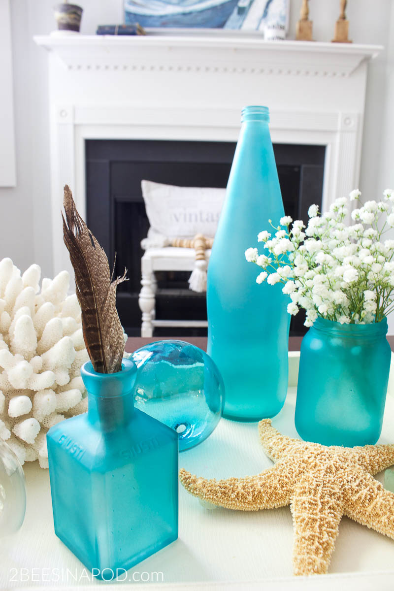 How To Make Sea Gl Bottles Thrifty Style Team