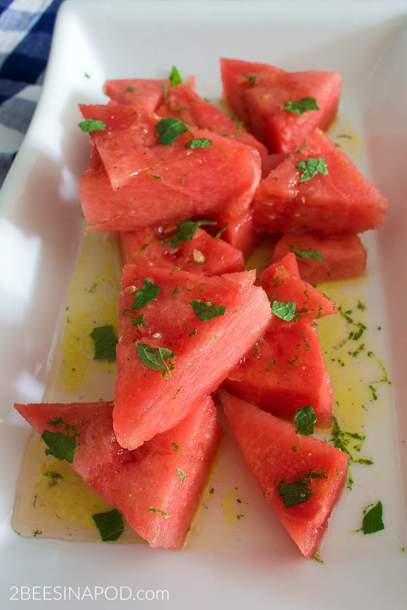 Mojito Watermelon with fresh lime and mint