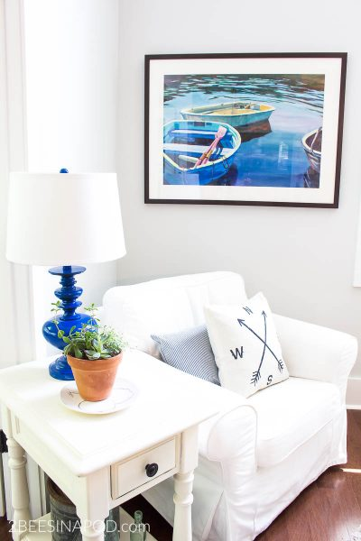 Relaxed Summer Living Room Decor – Room by Room Summer Series