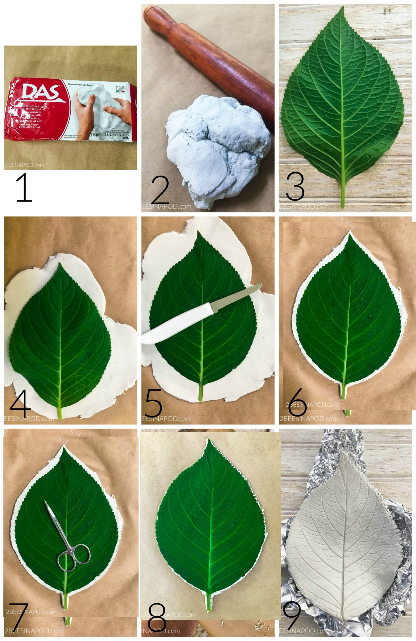 Tutorial for clay leaf bowls
