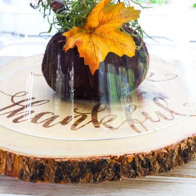 Farmhouse Wood Slice Serving Board – Thrifty Style Fall Home Decor Giveaway