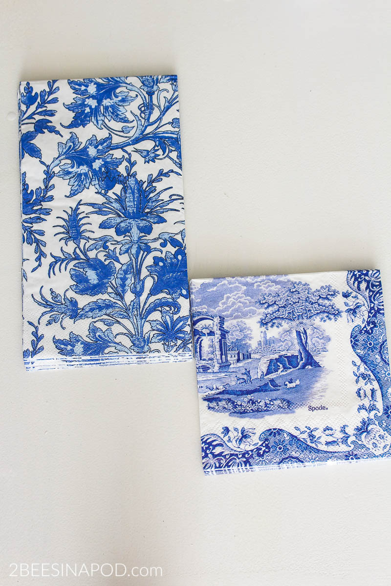 Chinoiserie Pumpkins Diy Blue And White Pumpkins With Decoupage Napkins 2 Bees In A Pod