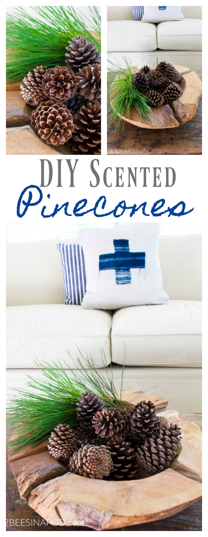 How To Make Diy Scented Pinecones 2 Bees In A Pod