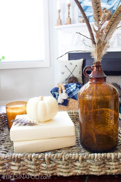Amber Bottle Fall Vignette – Simple Things Matter
