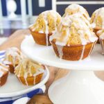 Glazed Pumpkin Spice Donut Muffins - the glaze is fabulous