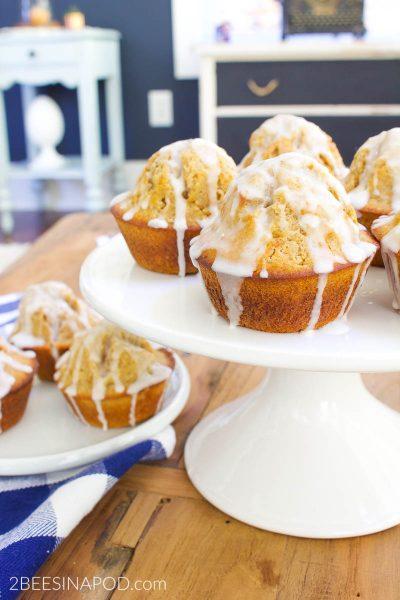 Glazed Pumpkin Spice Donut Muffins