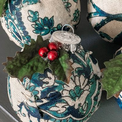 DIY Fabric Wrapped Christmas Ornaments – Thrifty Style Team