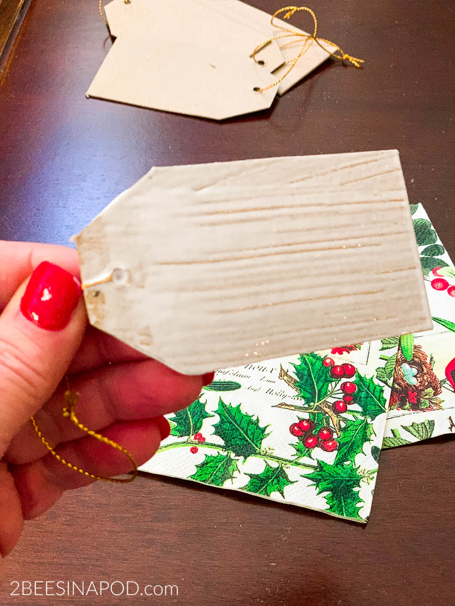 DIY Christmas Gift Tags - 2 Bees in a Pod