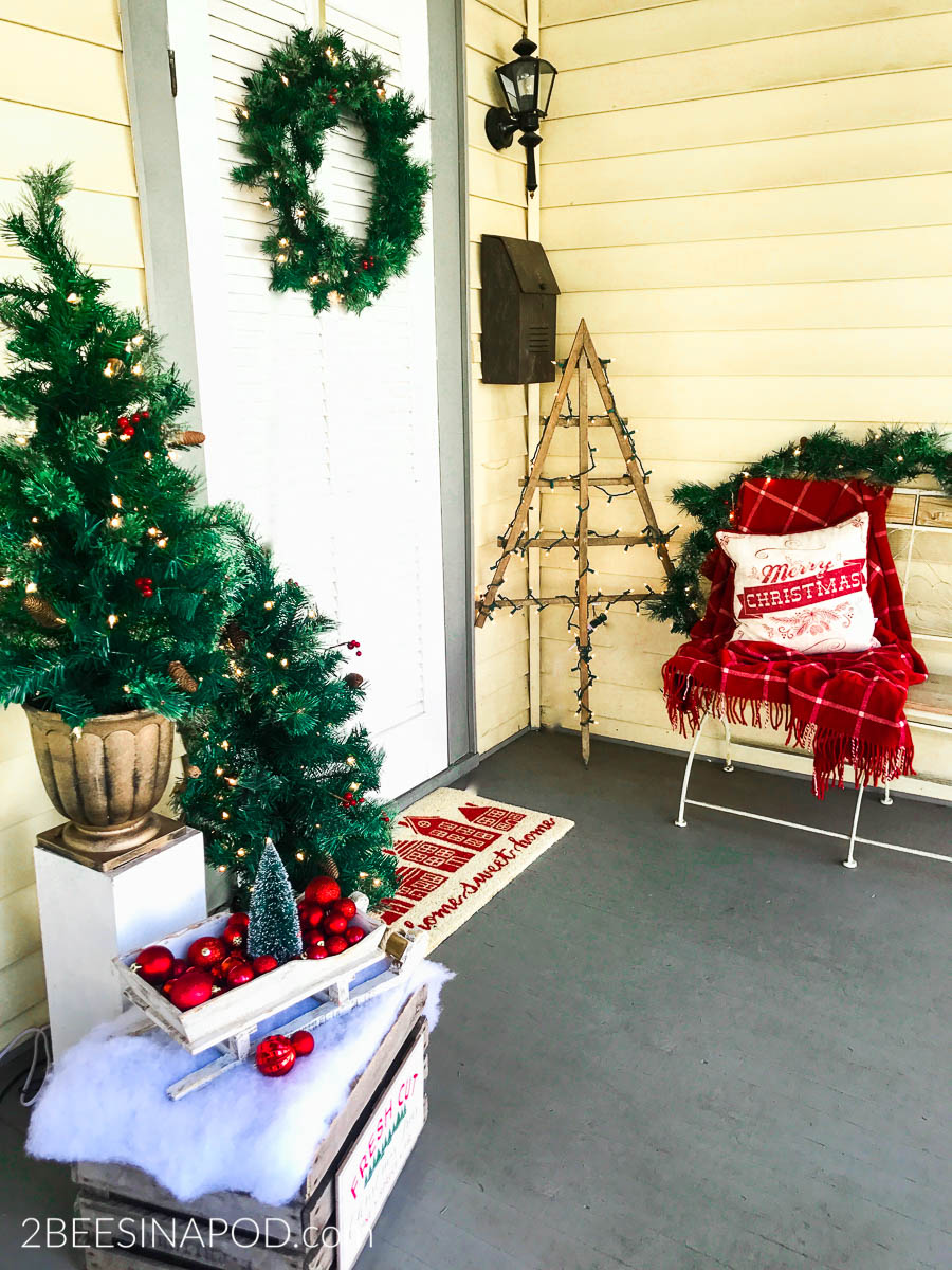 Traditional Christmas Front Porch
