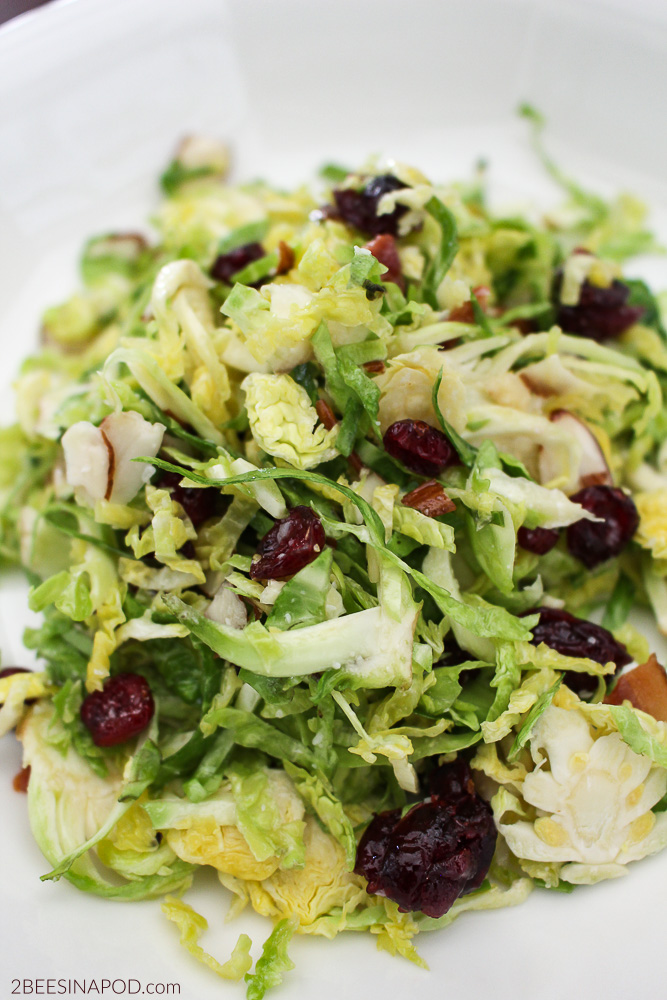 bacon, craisins, and brussel sprout salad