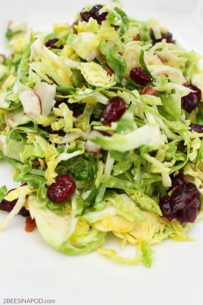 Brussel Sprout and Bacon Salad