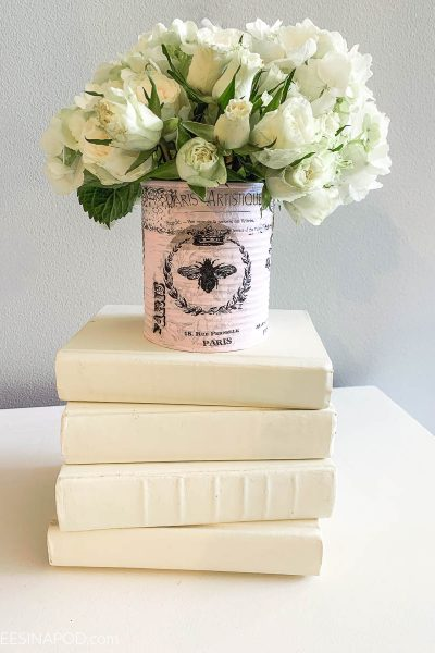 Shabby French Tin Can Vase – Easy DIY Project