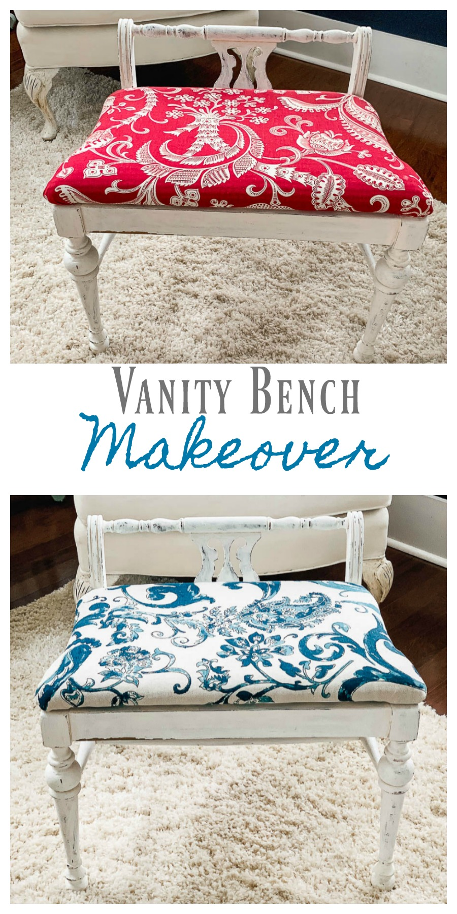 paint and new fabric can transform any bench seat