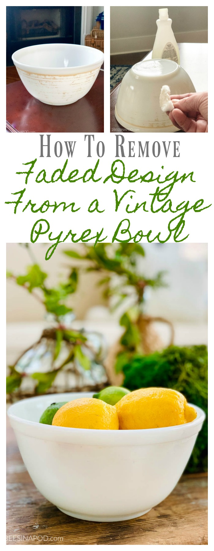 How to Remove Faded Design From a Vintage Pyrex Bowl