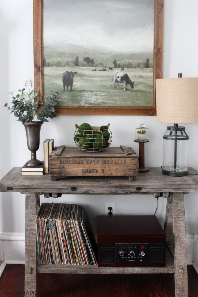 farmhouse refresh and style for living room