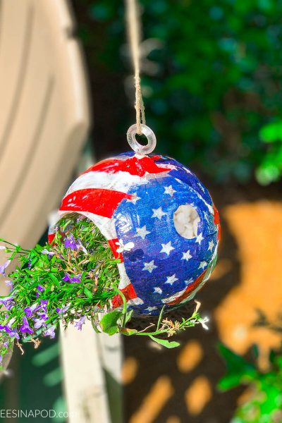 Patriotic Planter- My Dollar Store DIY
