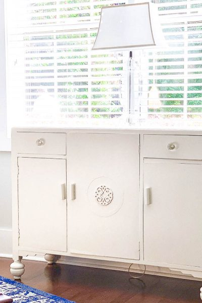 White Painted Buffet – Banish the Orange