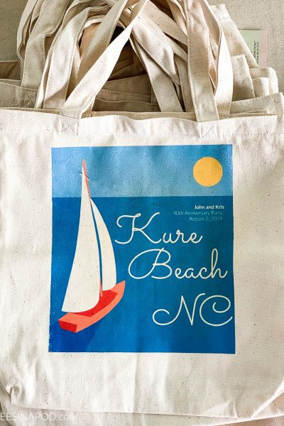 DIY Iron Transfer Canvas Tote Bags – Perfect Party Favor Bag