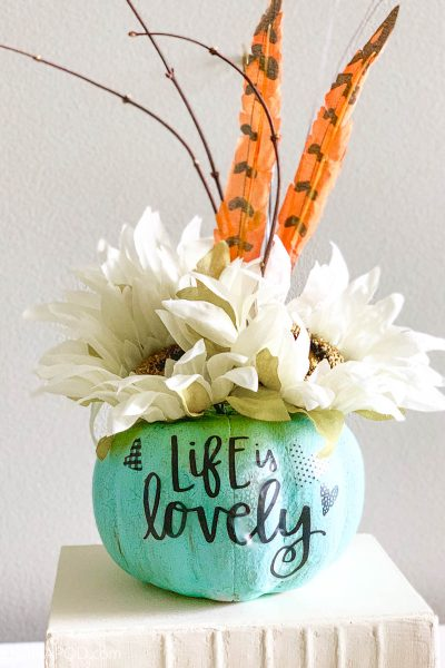 Transform Painted Dollar Tree Pumpkins into Beautiful Centerpieces