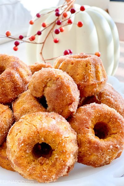 Baked Pumpkin Spice Donut Muffins