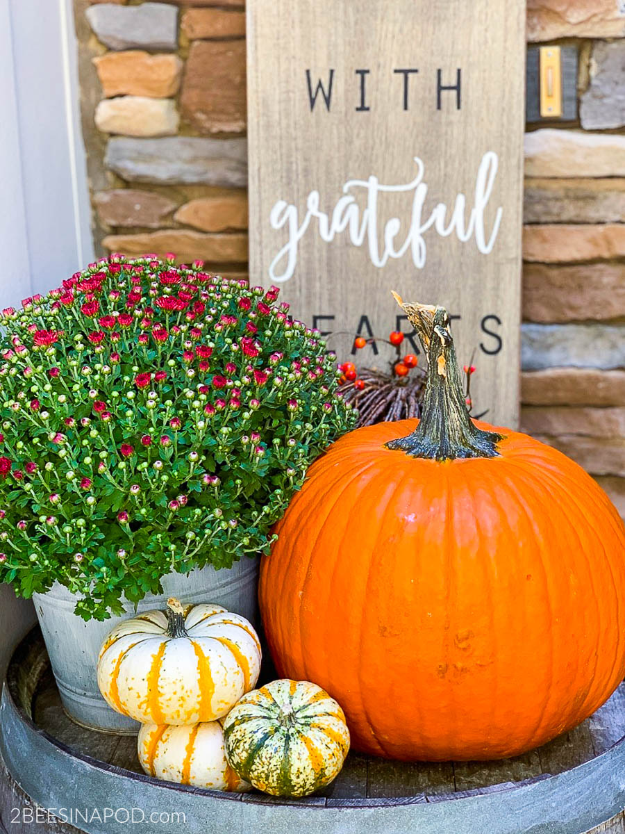 Colorful Fall Front Porch Decor