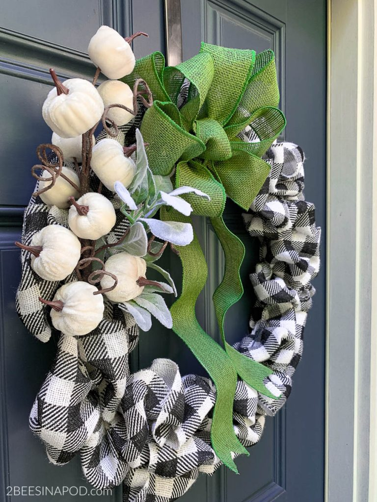 Diy Buffalo Check Fall Bubble Wreath 2 Bees In A Pod