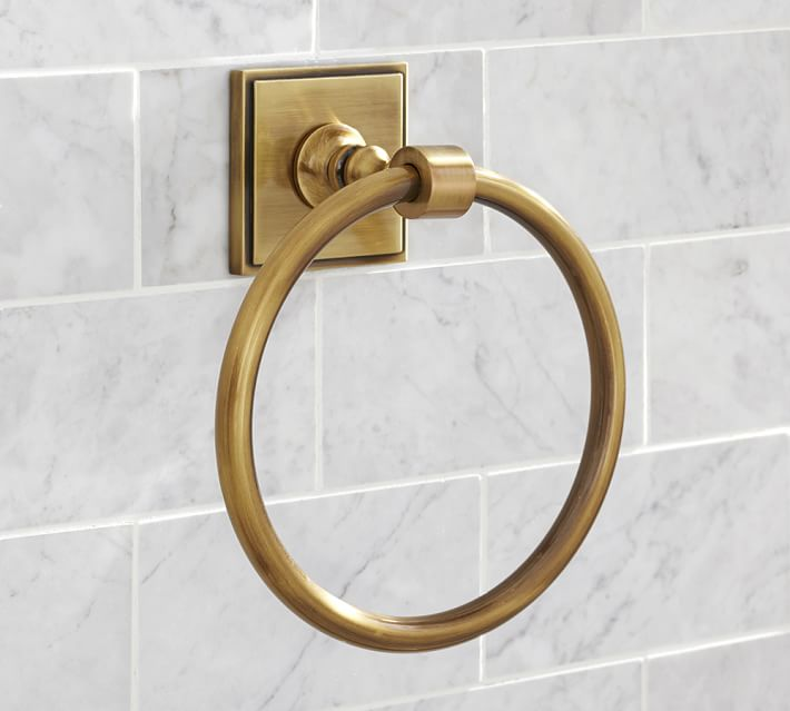 Brass towel ring