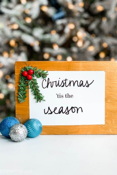 DIY Christmas Sign the Easy Way