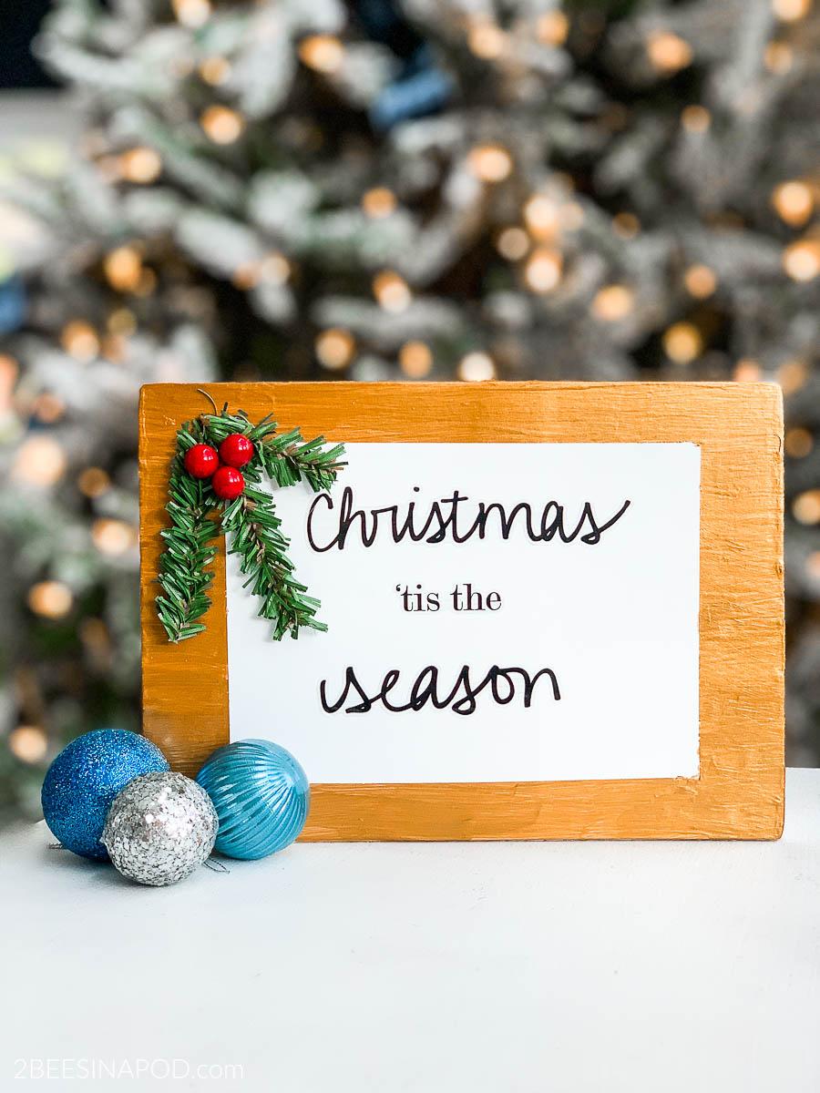 DIY Christmas Sign the Easy Way