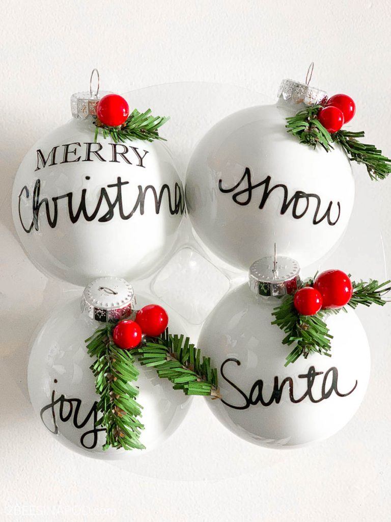 Easy Diy Personalized Christmas Ornaments Thrifty Style Team 2