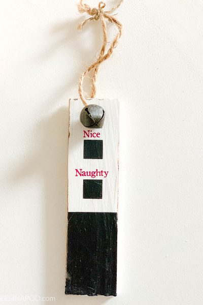 Naughty or Nice Christmas Ornament