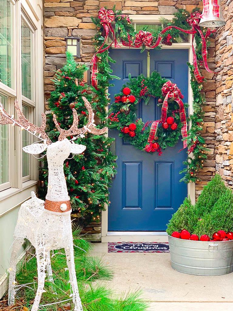 Traditional Christmas Porch