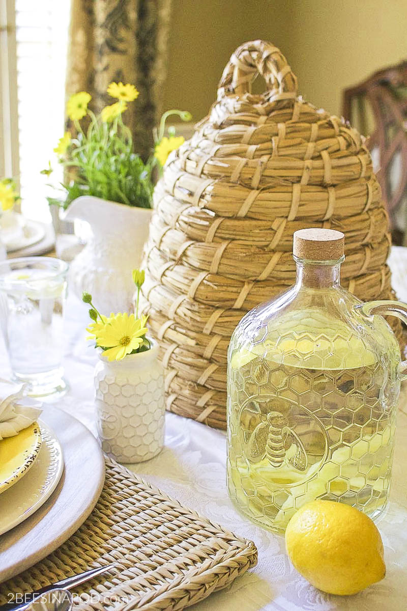 Honey Bee Glass Jug Pitcher Giveaway – Thrifty Style Team