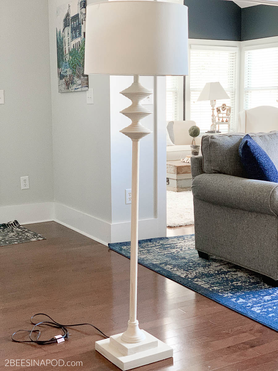Painted Floor Lamp for Home Office Makeover